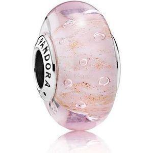 PANDORA Glass Charm Pink Glitter